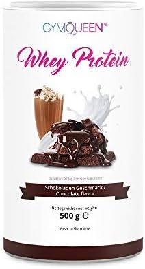 GymQueen Proteína de Whey, Proteína de suero de leche concentrada e aislada, Producto Alemán de Calidad, Chocolate con leche