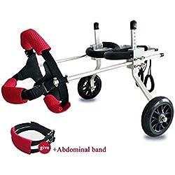 Dog Pet Wheelchair Best Friend—Dog Wheelchair,Rear Support Wheelchair, Adjustable Pet/Cat Dog Wheelchair Hind Leg Rehabilitation for Handicapped Dog, 2-Wheel Dog Pet Stroller (Size : XS)