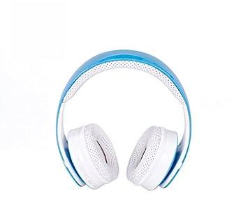 Auriculares Bluetooth Inalámbricos, esmerilado azul plegable cancelación de ruido HI-FI stereo-comfortable Ear Sticking auriculares para PC Ordenador Mac ...