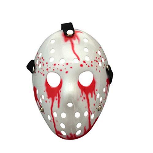 EYIIYE Terror Halloween Mask Bloody Jason Voorhees Freddy Hockey Festival Party Cosplay Mask ()