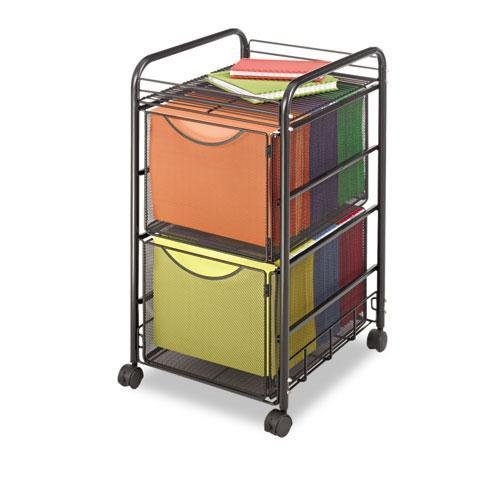(SAF5212BL - Safco Onyx Double Mesh Mobile File Cart)