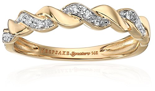 Keepsake Signature 14k Yellow Gold Diamond Anniversary St...