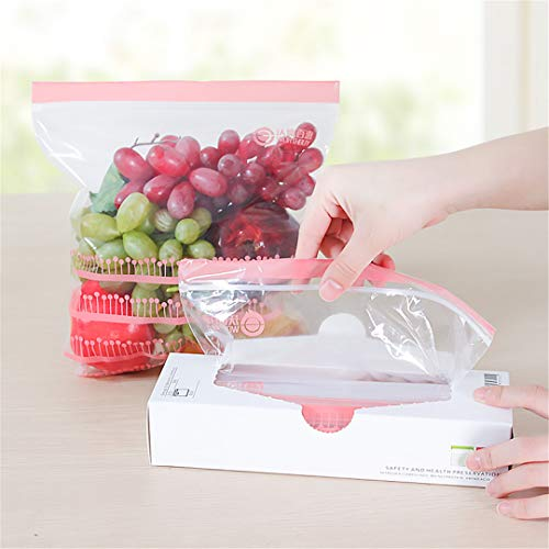 50Pcs/Lot Reclosable Plastic Wrap Zipper Fresh Bags Fridge zing Food Storage Bags Preservation Travel Snack Organizer 25 L 26.5 x 23.5cm 50Pcs
