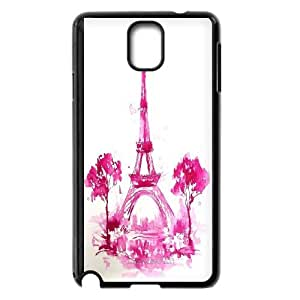 FOR Samsung Galaxy NOTE4 Case Cover -(DXJ PHONE CASE)-Tourism Eiffel Tower in Paris-PATTERN 7