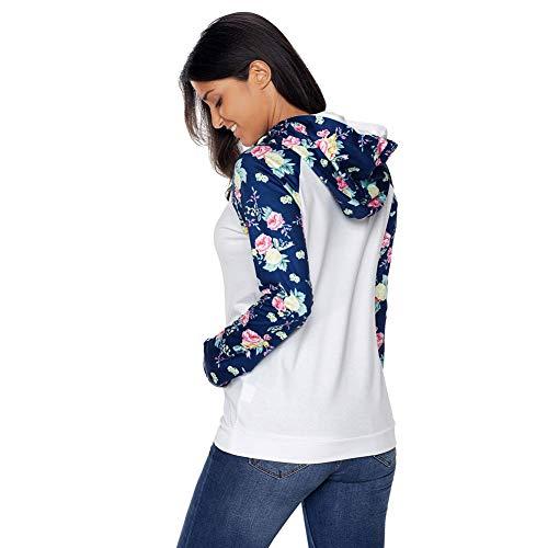 Donna Lunga Stampa White shirt Da T Manica Con Slim Fit HqEIxYw