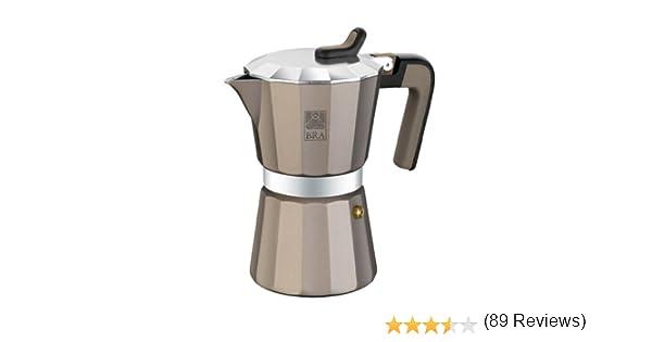 BRA Titanium - Cafetera, Capacidad 9 Tazas, Aluminio: Amazon.es: Hogar