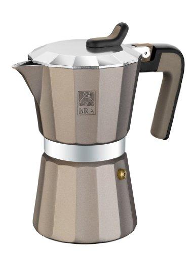 BRA Braisogona_A170577 – Cafetera TITANIUM Capacidad 6 Tazas, Aluminio
