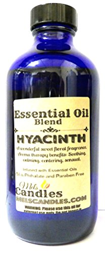 Hyacinth 8oz Cobalt Blue Glass Bottle of Premium Grade A Quality Fragrance Oil, Skin Safe Oil - Perfect for Candles, and All Bath and Body Products