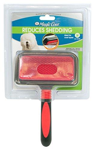 Four Paws 2in 1 Brush - Four Paws Magic Coat Pro 2 in 1 Brush Medium