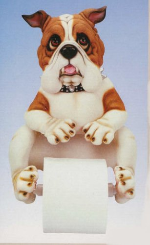 Charmant Resin Spike Georgia Bull Dog English Bulldog Home Bathroom Bath Room Decor  Toilet Paper Holder 13in