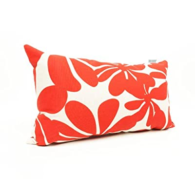 "Majestic Home Goods Red Plantation Indoor / Outdoor Small Throw Pillow 20"" L x 5"" W x 12"" H - Dimensions - 20 in. x 12 in. x 5 in. (approx.) Perfect portable size for all indoor and outdoor environments U.V. Treated Covers - these throw pillows uses an outdoor treated polyester and cotton cover that offers up to 1000 hours of protection Ultra Comfortable - the pillows are filled with our Super High Loft PolyFiber Fill to give them an ultra-soft cushion feel - living-room-soft-furnishings, living-room, decorative-pillows - 41YG3a2VdIL. SS400  -"