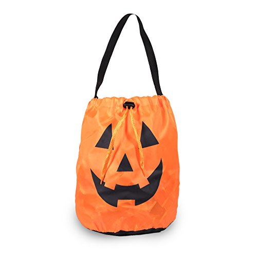 Trick Or Treat Bucket (Windy City Novelties Led Halloween Pumpkin Draw String Trick or Treat Candy Bag)