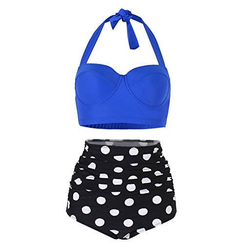 Lover Beauty Womens Waisted Halter Swimsuits product image