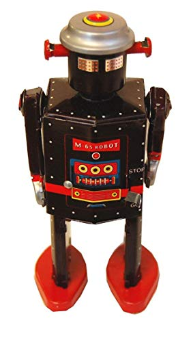 Chucklesnort Vintage Style Mechanical Wind-Up Tin Toy: M-65 Robot by Chucklesnort (Image #1)