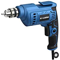 G LAXIA Corded Drill 4.2 Amp, 3/8 Inch, Metal Keyless Chuck,0-3200RPM Variable Speed, Rubber Over-Molded Handle for Iron,Aluminum Alloy,Wood, PVC, Light Bricks