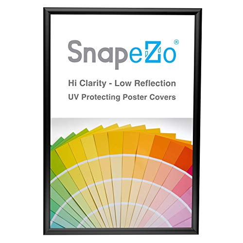 SnapeZo Photo Frame 13x19 Inches, Black 1 Inch Aluminum Profile, Front-Loading Snap Frame, Wall Mounting, Sleek Series ()