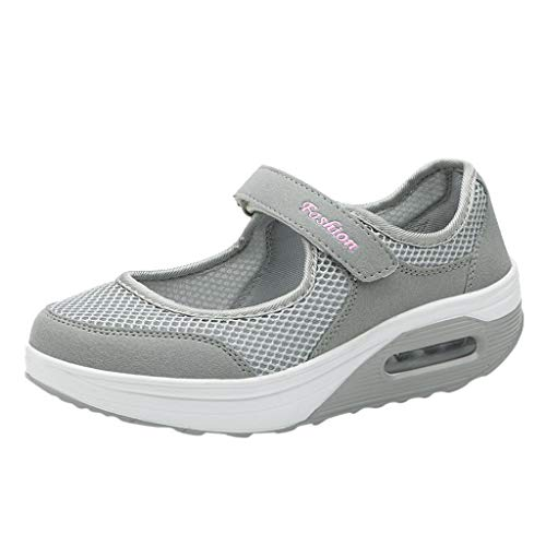 Walking Shoes for Women,ONLY TOP Women's Mary Jane Sneakers Comfortable Working Nurse Shoes Casual Shape Shoes Grey
