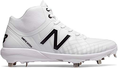 New Balance Men's 4040v5 Metal Baseball Shoe, White, 10.5 W US