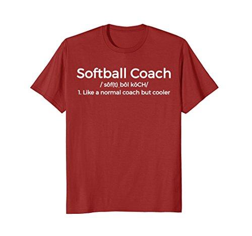 Mens Softball Coach Definition Shirt Funny Teacher Trainer Gift Large Cranberry (Coach Gifts Softball)