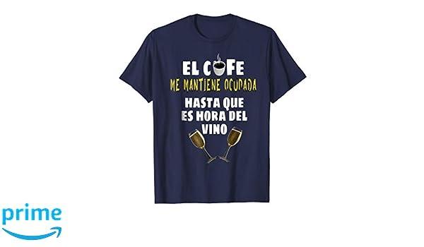Amazon.com: Camisetas divertidas para los Que les Gusta El Cafe y Vino: Clothing