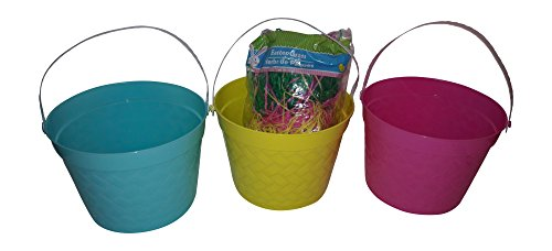 Used, Easter Basket bundle with grass for sale  Delivered anywhere in USA