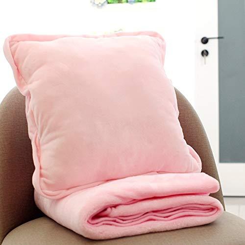 Anstorematealliance Home Textile ホームテキスタイルピンク多機能豪華な毛布スクエアピローキルトオフィスカーの枕クッション、サイズ:40 x 40 cm   B07RYPNYBK