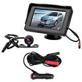 Cheap B-Qtech Backup Camera and Monitor Kit, Wire Single Power Mini Rear View Reversing Camera Night Vision Waterproof with Guide lines and 4.3 Display Screen for Car SUV Van, Suction Cup Mount