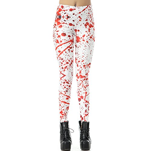 Yusuxia Women's Fashion Digital Print Fadeless Colorful Stretch Leggings Ankle Length Tight Pants (M, -