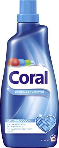 Coral Feinwaschmittel Optimal Color flüssig, 20 WL