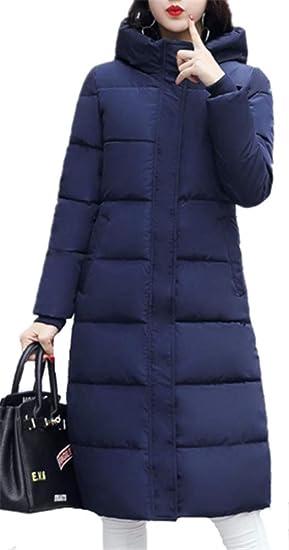 f85d3a18be5d YOGLY Manteau Long Femme Elégante Chaud Doudoune Légère Épais Blouson à  Capuche Veste Casual Outwear pour