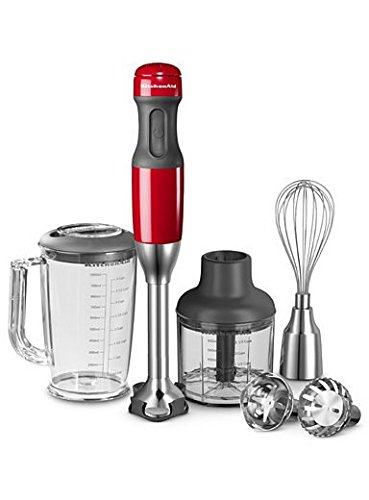 Kitchen Aid Artisan KHB25 Hand Blender Empire Red- 220 Volts Only! Will Not Work In The USA
