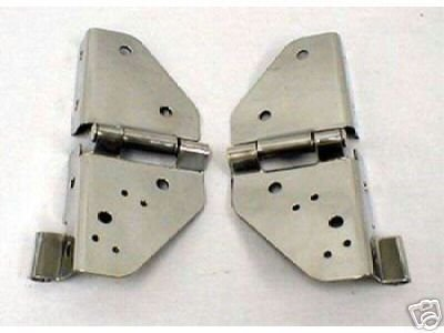 (Jeep CJ Stainless Windshield frame Hinges Pairs 76-95)
