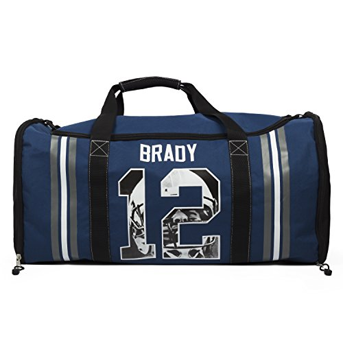 NFLPA Tom Brady Blue Athletic Duffle Bag