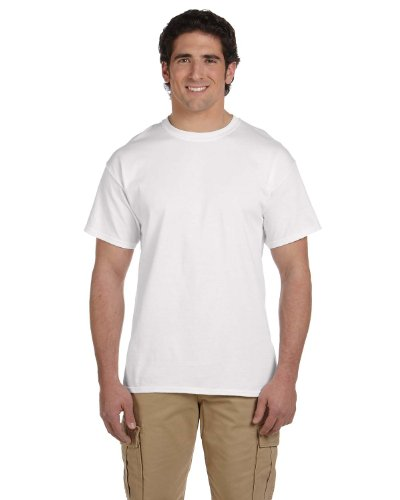 Fruit of the Loom mens 5 oz. 100% Heavy Cotton HD T-Shirt(3931)-WHITE-4XL (Fruit Of The Loom White T Shirts Wholesale)