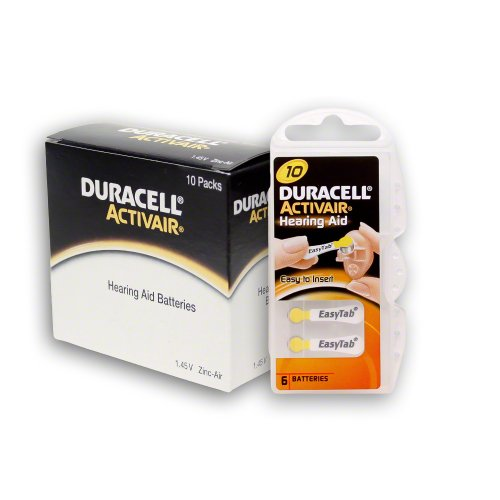 Duracell Size 10 Hearing aid Batteries (60 Batteries), Health Care Stuffs