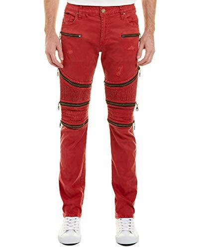 (Robin's Jean Mens The Show Red Skinny Leg, 42,)