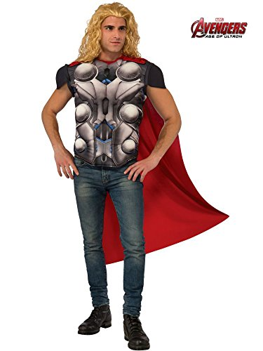 Rubie's Men's Avengers 2 Age of Ultron Thor Muscle Chest Top and Cape, Standard -