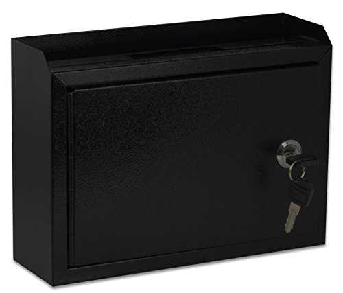 AdirOffice Multi Purpose Wall Mountable Suggestion Box, 9.75 x 7 x 3 - Black