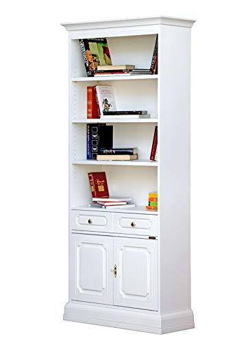 Arteferretto Bücherregal Holz Weiß Schlafzimmer, Büro ...
