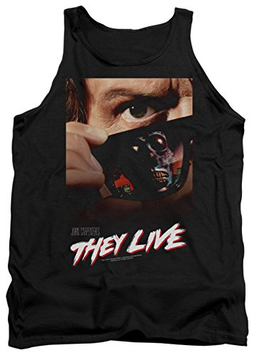 A&E Designs Mens They Live Poster Tanktop, Black, 2XL ()