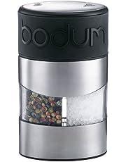 Bodum Manual Grinder Salt and Pepper, Black, 11002-01