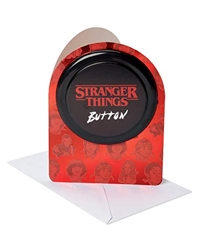 - American Greetings Stranger Things Button Greeting Card with Audio