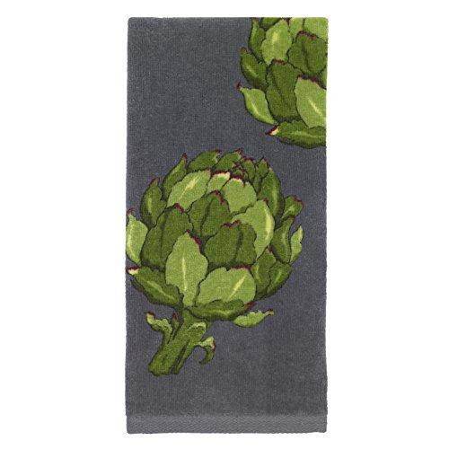 All-Clad Textiles 100-percent Cotton Fiber Reactive Artichoke Print Kitchen Towel, 17-inch x 30-inch, Pewter
