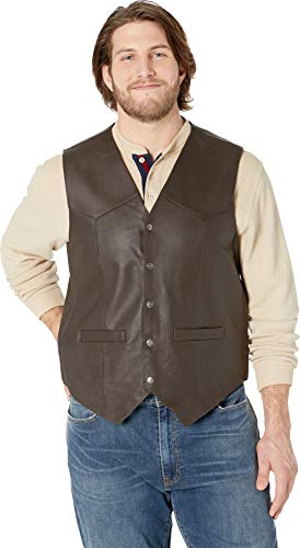 Scully Men's Leather Vest Brown X-Large