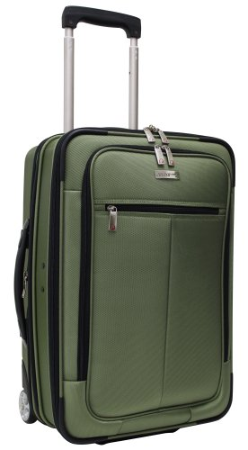 Travelers Choice Luggage Siena Hybrid Hard-Shell Rolling Garment Bag / Upright, Green Tea, One Size, Bags Central