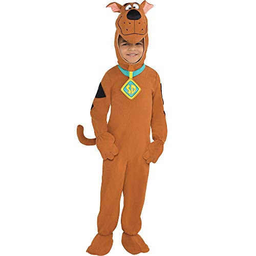 Suit Yourself Zipster Scooby-Doo One Piece Halloween Costume for Boys, Small, Includes Headpiece