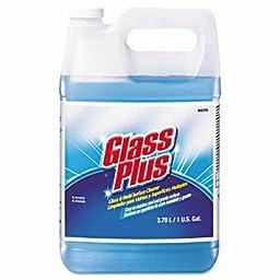 Glass Plus Glass Cleaner, Floral Scent, Liquid, 1 gal. Bottle - four 1-gallon bottles per case.