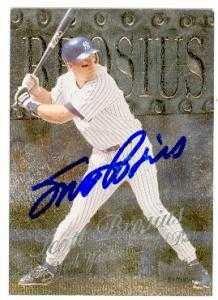 Scott Brosius autographed Baseball Card (New York Yankees) 1999 Fleer Metal Universe #143 by Autograph Warehouse