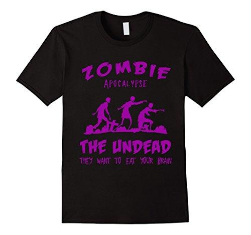 Apocalypse Themed Costume (Mens Zombie Apocalypse Halloween Costume T-Shirt 3XL Black)