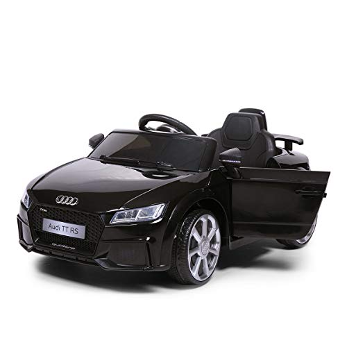 thegreatshopman Black Audi TT RS Kids 12V Electric Battery Powered Ride on Car Toy Vehicle RC Remote Control LED Lights MP3